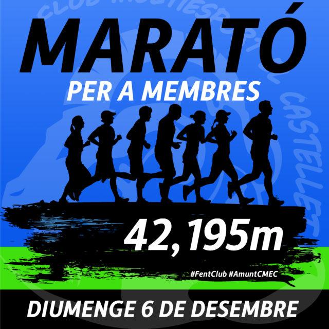 Presentem la Marató CMEC per a membres